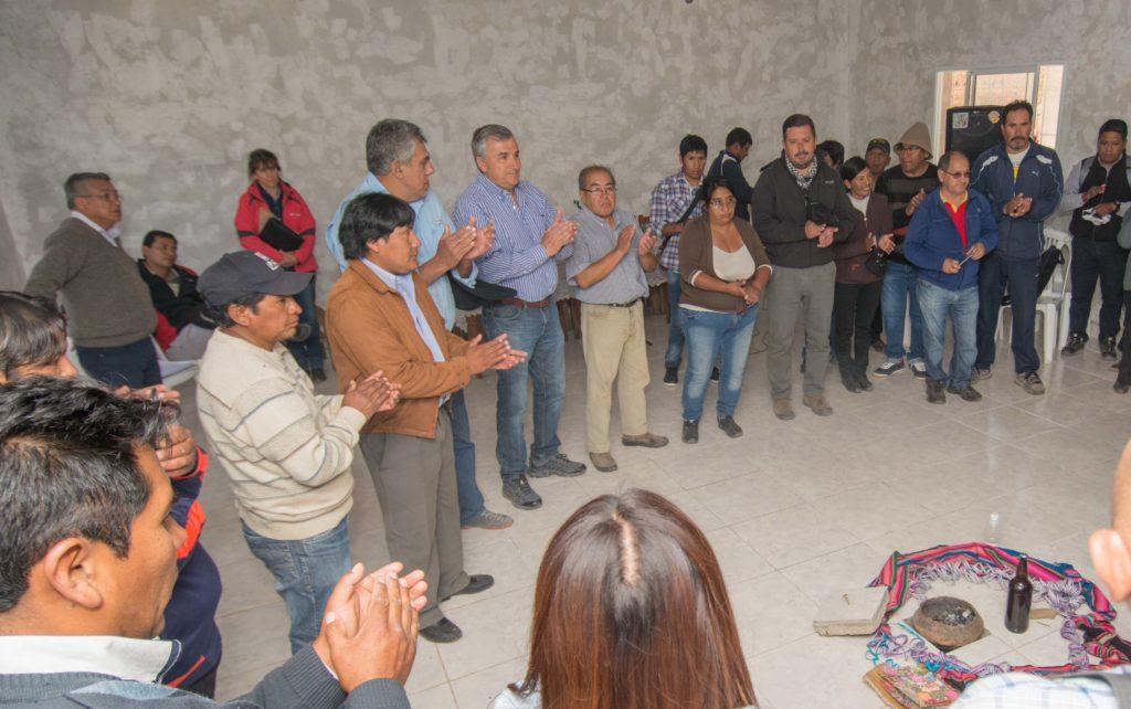 Gerardo Morales, reunido con comuneros de Santa Catalina.